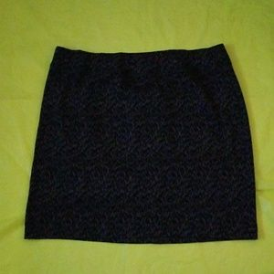 STYLE & CO black and gray mini knit skirt